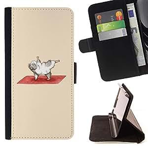 For Samsung Galaxy J3(2016) J320F J320P J320M J320Y Case , Ejercicio de Indias de la historieta divertida- la tarjeta de Crédito Slots PU Funda de cuero Monedero caso cubierta de piel
