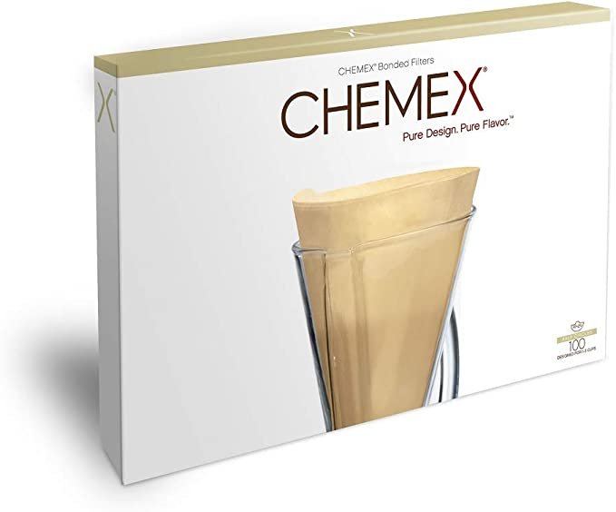 Chemex - Half Moon Filters Natural FP-2N - 100 Count Unfolded