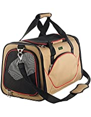 HUNTER Kansas - Bolsa de Transporte, Color Beige y Rojo
