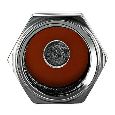 Valve-Loc Tire Valve Caps (10-Pack) Heavy-Duty Stem Covers   Dustproof, Airtight Seal   Hexagon Design   Outdoor, All-Weather, Leak-Proof Air Protection   Light-Weight Aluminum Alloy (Gun Grey): Automotive