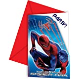 6 cartes d'invitation The Amazing Spiderman™
