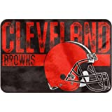 "NFL ""Worn Out"" Bath Mat, 20"" x 30"" - Most NFL Teams Available (Cleveland Browns)"