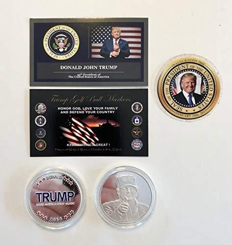 Virginia City Mint Trump Golf Ball Marker.2016 Make America Great Again.999 Silver Plated Coin ()
