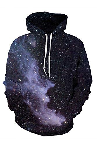 Pink Queen Unisex 3D Printed Sweatshirt Pullover Hoodie Big Pockets Black Size L