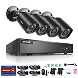 ANNKE 8CH 1080P lite HD Security Camera System with 4 720P Weatherproof Bullet CCTV Cameras, Support Smartphone Remote view NO Hard Drive, 66ft Night Vision (Certified Refurbished)