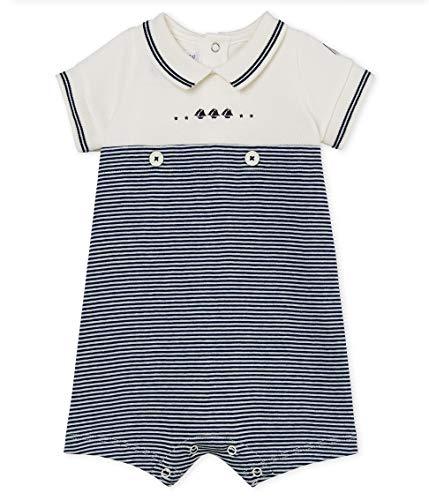 Petit Bateau Baby Boy's Short Sleeve Romper (3 Months)