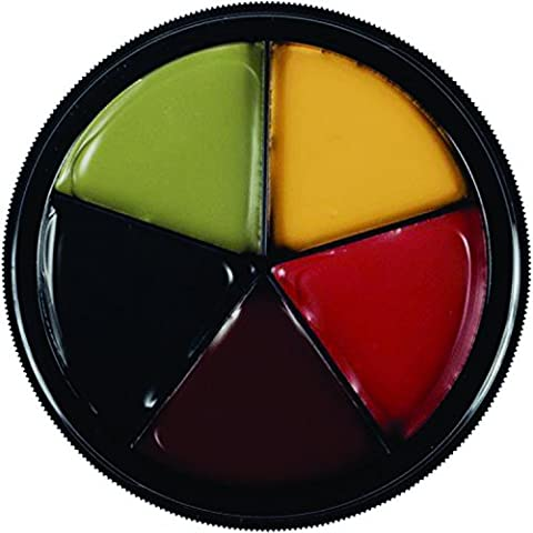 Mehron Makeup Pro ColoRing (5 Color Ring) BRUISE Wheel for Special Effects| Halloween| Movies (Pro Stages)