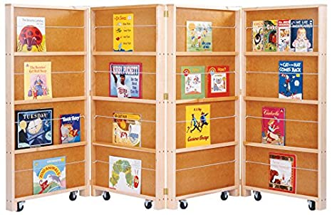 jonticraft 0267jc mobile library bookcase 4 sections