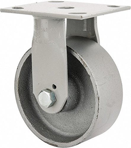 Iwp Series - The Fairbanks Company N32-5-IWP - Series 322 Sanitation Container Caster, Plain Bearing, Rigid, Semi Steel, 1000 Load Capacity, 5