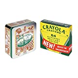 Crayola 64 Count Limited Edition Vintage Crayons in a Decorative Tin