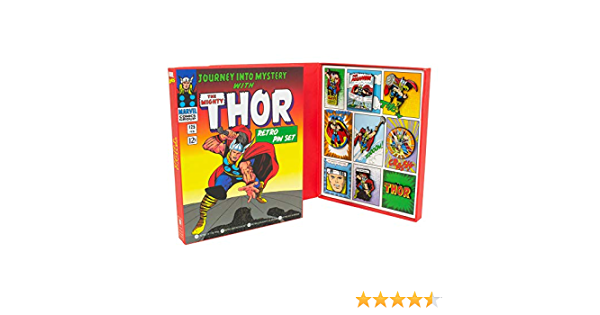 9 Enamel Pins Thor Retro Pin Badge Set Marvel Comics Avengers