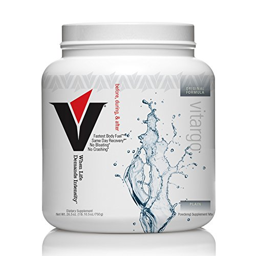 Vitargo - Premier Carbohydrate Fuel for Athletic Performance, Before - During - After Workout, Vegan and Gluten Free (Plain, 20 Scoops)