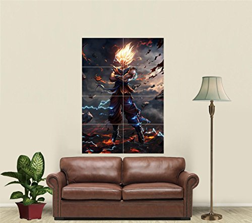 Dragon Ball Z Super Saiyan Goku Giant Art Print Poster JA817