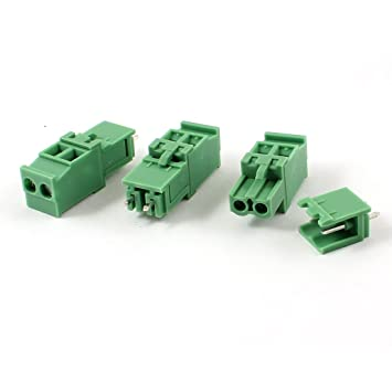 sourcing map 10 Paar AC 300V 5,08 mm Pitch 10A 3 Pin Schraubanschluss steckbar Terminal Block de