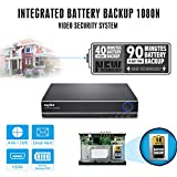 SANNCE Integrated Battery Backup 8 CH 1080N Video Security DVR for Home Security System HDMI/VGA Quck QR Code Scan Easy Remote Access Motion Detection and Email Alerts(No HDD)