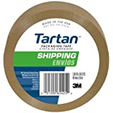 Tartan Box Sealing Tape, 1.88 x 54.6 Yards, Tan (3710T)