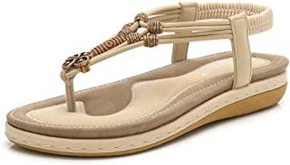 ZHIJINLI Sandali Roman Scarpe Pantofole Scarpe da Spiaggia Scarpe da Trekking Scarpe da Trekking Fondo Spesso Pan di Spagna Scarpe da Donna Moda Selvaggia, 38EU