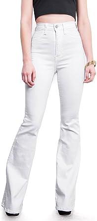 Amazon Com Vibrant Pantalones De Mezclilla De Cintura Alta Ajustados Para Mujer 7 Clothing