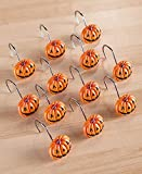 The Lakeside Collection Set of 12 Pumpkin Shower Curtain Hooks