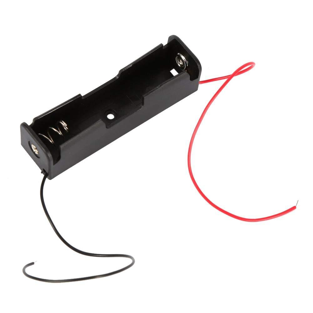 10pcs Cas de bo/îte de Stockage de Support de Batterie en Plastique protable pour 1x 18650 Batterie avec Fils de Fil Hongzer Support de Caisse de Batterie