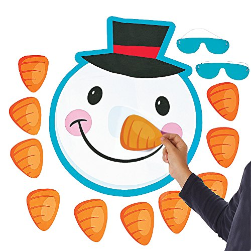 Fun Express - Pin The Nose On The Snowman for Christmas - Toys - Games - Pin The & Bulls Eye Games - Christmas - 2 Pieces]()