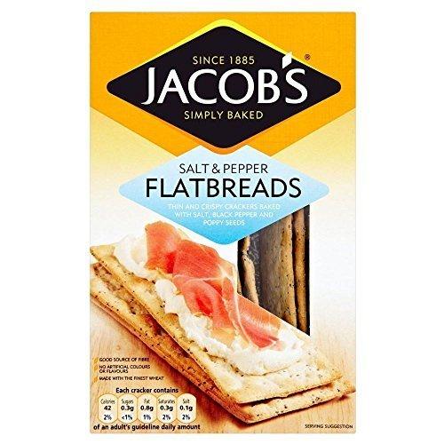 (Jacob's Flatbreads - Salt & Cracked Black Pepper (150g) by Groceries)