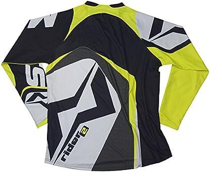 Talla XS Mots MT2107XSY Trial Rider 2 Camiseta Amarillo Fluo