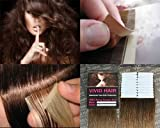 20 Pcs X 18″ inches Remy Seamless Tape Skin weft Human Hair Extensions Color # 6 Light Brown Review
