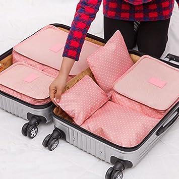 Generic rosa: hoomall 6pcs almacenamiento bolsas de viaje de ...