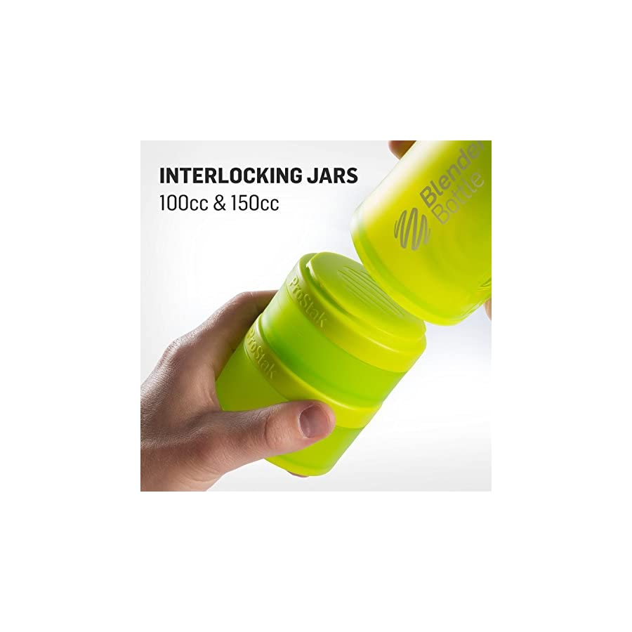 BlenderBottle ProStak System with 22 Ounce Bottle and Twist n' Lock Storage