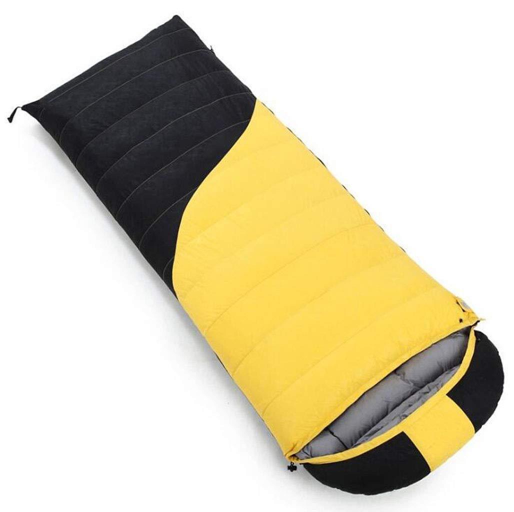 キャンプ大人の寝袋春と夏のポータブル圧縮寝袋アウトドアハイキングバックパッククライミング多色オプション (色 : Orange, サイズ さいず : 0.8kg) B07QLSSG55 黄 1.2kg 1.2kg|黄