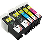 Toner Kingdom® Compatible Ink Cartridge Replacement for Lexmark 100XL High Yield Ink Cartridge Replacement for use with Lexmark Printers: Genesis S815, Genesis S816, Impact S300, Impact S301, Impact S305, Institution S505, Interact S605, Interpret S405, Pinnacle Pro901, Platinum Pro905, Prestige Pro805, Prevail Pro70, Prospect Pro205 Replacement for ink jet printer. 14N0820 / 14N1068(2 Black,1 Cyan,1 Yellow,1 Magenta)