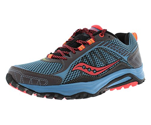 Saucony Grid Excursion TR9 Women's Running Shoes Size US 7.5, Regular Width, Color Sky/Black/Coral