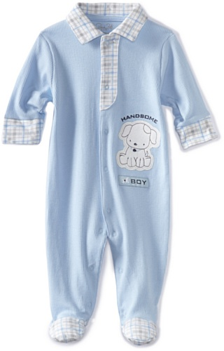 Rene Rofe Baby Newborn Boys Handsome Boy Footed Coverall