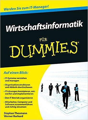 Architektur Fã¼R Dummies | Wirtschaftsinformatik Fur Dummies Amazon De Stephan Thesmann