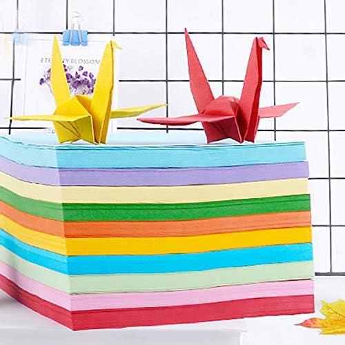 Kentop Lot de 100 feuilles de papier origami pour loisirs cr/éatifs 15/×15cm