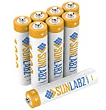 SunLabz AAA 400mAh NiCD Rechargeable Batteries (8 Pack)