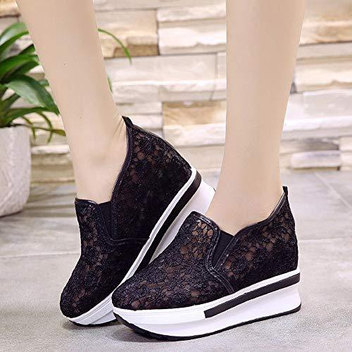 Zeppe Sneakers Scarpette Stivali Scarpe Soft Camminata Homebaby Donna Calcetto Vintage Nero Calzature Corsa ragazze Con Sportive Eleganti 51ZnwU
