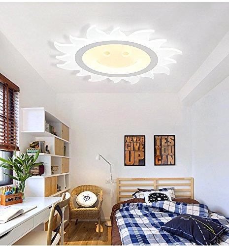 GQLB Semplice ultra-thin lampada da soffitto LED 22W personalizzato per bambini luci camera da letto sun Sorriso ragazza room Colazione illuminazione illuminazione creativa 420MM