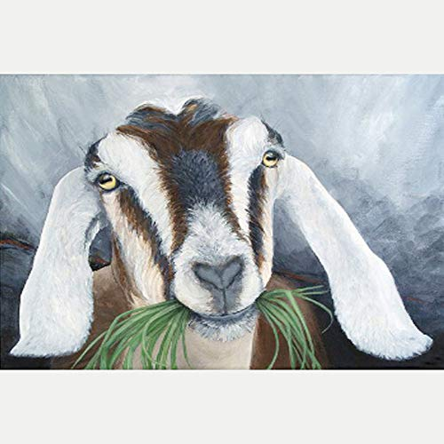 Kit Eating Support Emotional - LemTea 5D Diamond Painting Kits Full Drill A Goat Eating Grass Diamond Embroidery Stitch Craft Canvas Wall Decor