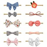 #1: Baby Girl Headbands and Bows, Newborn Infant Toddler Hair Accessories by MiiYoung
