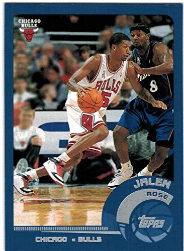 2002-03 Topps Chicago Bulls Team Set with Jalen Rose & Tyson Chandler - 7 NBA Cards