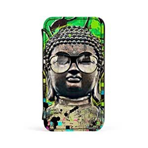 Buddha Premium Faux PU Leather Case, Protective Hard Cover Flip Case for Apple? iPhone 4 / 4s by Gangtoyz + FREE Crystal Clear Screen Protector