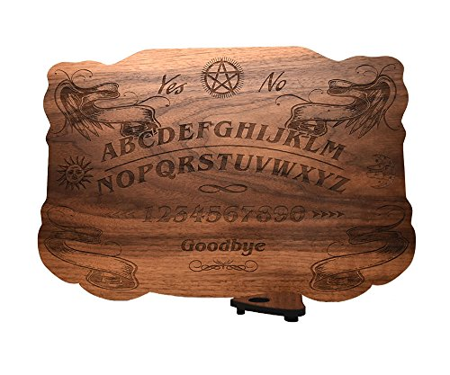 (Beatus Lignum Ouija Board in Walnut, - 13.5 x 9.5 in 1/4 Thick- All Natural, Plain Wood - Customizable)
