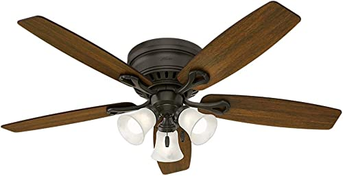 Hunter 52016 Oakhurst 52 in. LED Indoor Low Profile New Bronze Ceiling Fan