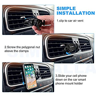 Pop Clip Air Vent Car Phone Mount for pop Users, Kymlaa Universal 360° Rotation Cell Phone Holder Compatible with Pops Grip & Out Stand, Adjustable Switch Lock for All Smartphones, GPS Navigation