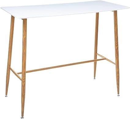 vidaXL Table de bar Noir 120 x 60 x 105 cm