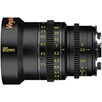 Veydra V1-85T22SONYEM Mini Prime 85mm T2.2 Sony E Metric Cinema Lens with Manual Focus, Black