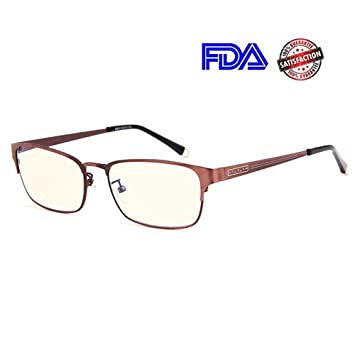 42d53f9af1e REAVEE Blue Light Blocking Reading Glasses Stainless Steel Metal Frame  Computer Readers Anti Glare Eye Strain