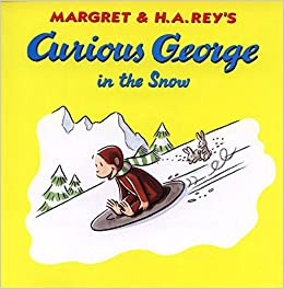 Curious George in the Snow - Winter Books List from HowToHomeschoolMyChild.com